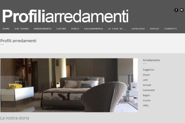Realizzazione sito web Profili arredamenti