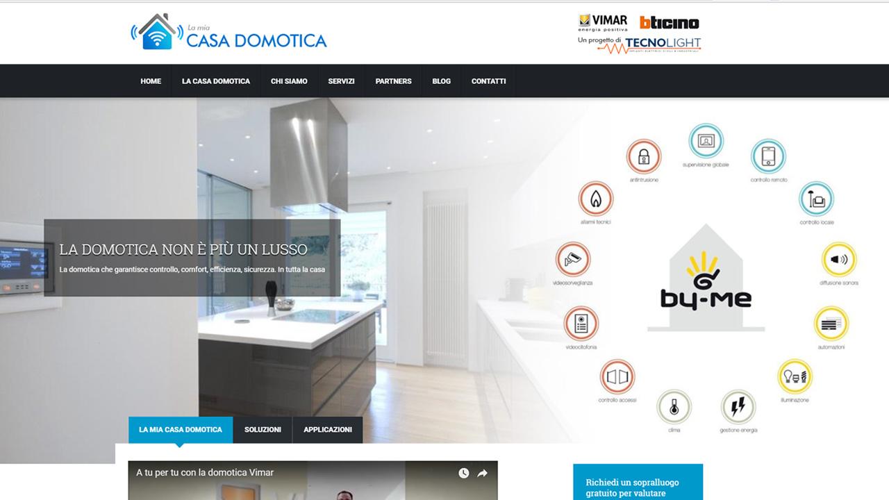 Creazione sito web la mia casa domotica mocart studio - Progetto casa domotica ...