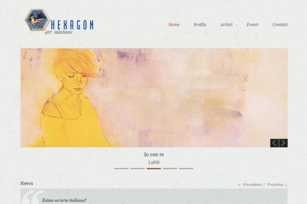Sito web galleria d'arte HexagonArt