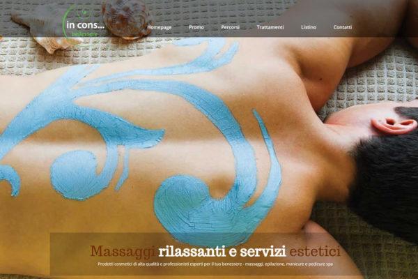 Realizzazione sito web centro benessere Incons