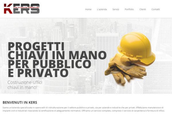 Realizzazione sito web Kers srl