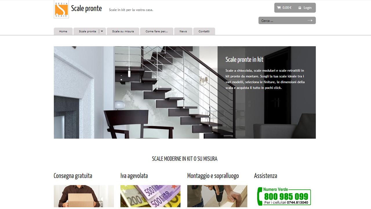 sito e-commerce vendita scale