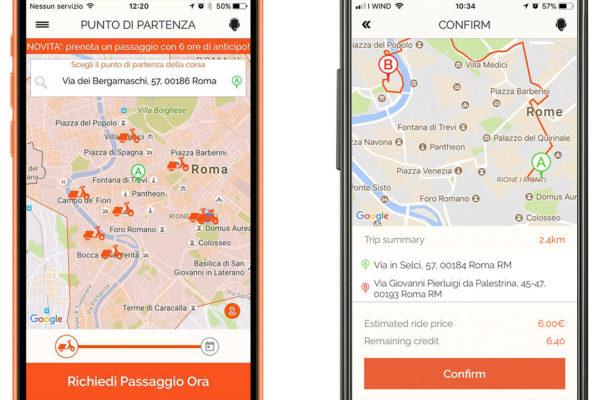 UI design app Scooterino