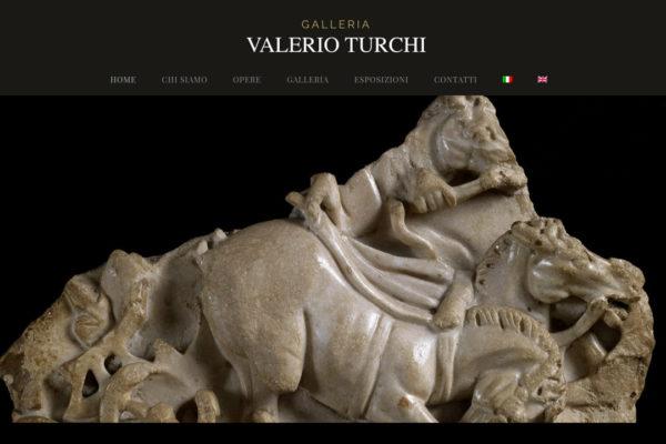 Creazione sito web galleria d'arte Valerio Turchi
