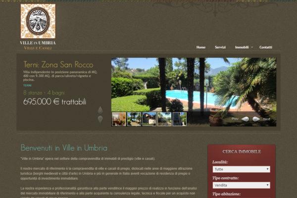 Creazione sito web agenzia immobiliare VilleInUmbria