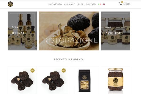 Sviluppo sito e-commerce MG Tartufo
